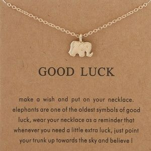 Jewelry - GOOD LUCK Women Necklace GoldTone Clavicle Chains